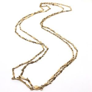 "🆕Vintage 60"" Crown Trifari Gold Link Necklace"